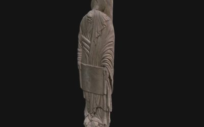 Male figure holding a scroll