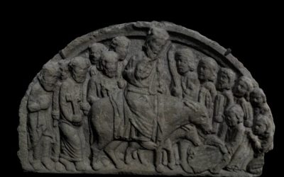 Tympanum of Jesus' entry into Jerusalem